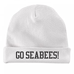 FUNNYSHIRTS.ORG Baby Fan Hat Go Seabees!: Infant Baby Hat