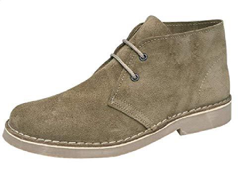 Roamers Classic Suede Desert Boots Khaki