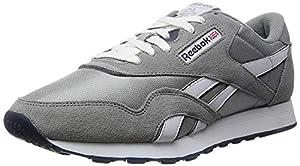 Reebok Men's Classic Sneaker (44-45 M EU/11 D(M) US, Platinum/Jet Blue)