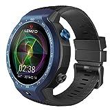YNAA LEMFO LEM9 Multiple Sports Modes Smart Watch, Dual 4G Android 7.1, 1.39 Inch 454X454 Display, 5MP, 600mAh Smartwatch (Blue)