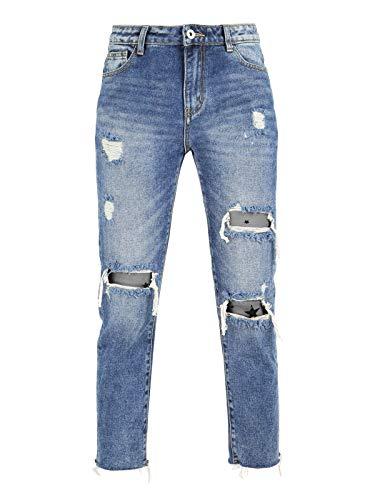 Ghiaccio Strappati Boyfriend amp;limone Con Jeans Stelle 7wOq0T7r