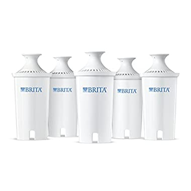 Brita Advanced Replacement Water Filter for Pitchers, 5 Count