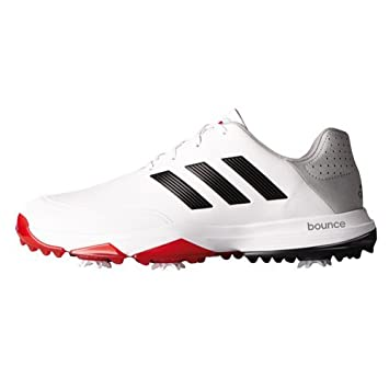 adidas Adipower Bounce Wd, Men Golf shoes, White/Black/Red, 7