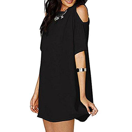 Frauen Off Shoulder Strandkleid Sommer Chiffon Mini Strapless Lose Casual  Kleid Oversize S M L XL XXL XXXL 78cbd784cf