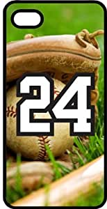 Baseball Sports Fan Player Number 24 Smoke Rubber Decorative iPhone 5/5s Case