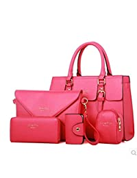 GUGGE Womens Simple Stereotypes Bag Five-piece Handbag Purse and Wallets Card Pack