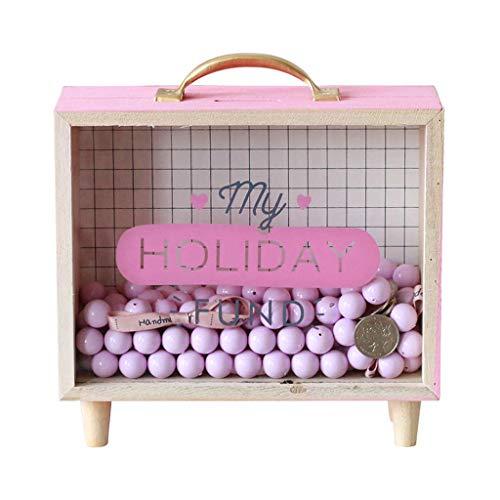 Room Shadow Box - Sweet FanMuLin Shadow Box Frame, Wooden Money Box, Wedding Wood Bank (My Holiday Fund)