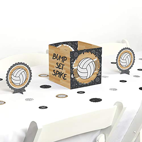 Big Dot of Happiness Bump, Set, Spike - Volleyball - Baby Shower or Birthday Party Centerpiece & Table Decoration Kit ()