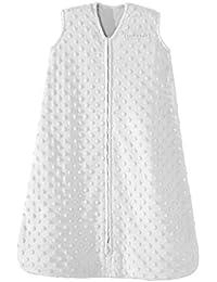 SleepSack Plush Dot Velboa Wearable Blanket Medium Silver