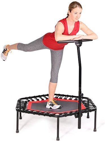Fashine-Fitness-Trampoline-Bungee-Rope-System-with-Adjustable-Handlebar-Portable-Foldable-Durable-Safe-TrampolineUS-STOCK