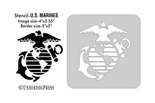 (Large Stencil - U.S. Marines)