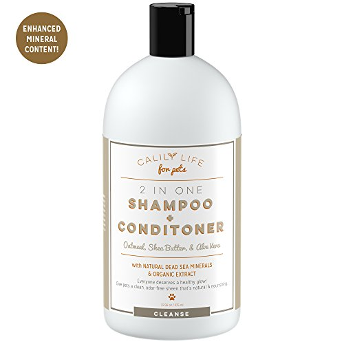 Calily Life Organic Oatmeal Dog and Cat Shampoo + Conditioner, 32 Oz. -Enriched with Aloe Vera and Shea Butter...