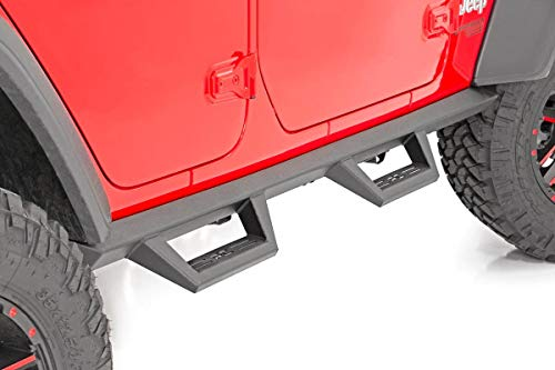 Rough Country Jeep Contoured Drop Steps 2018 Wrangler JL Unlimited 4DR 90769