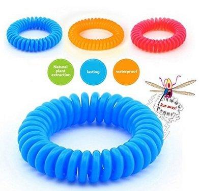 Upper 12 Piezas de Pulsera Repentente Antimosquitos/Insectos Espiral Goma para Muñeca Tobillo Niños Adultos Eficiente