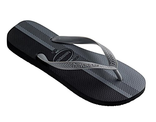 Havaianas Men's Top Flip Flop (39 M EU / 8 D(M) US, Black Ice Grey)