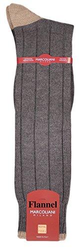 Men's ExtraFine Heavy Merino OTC Italian Boot/Casual Sock - One Pair Flannel Grey