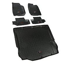 Rugged Ridge 12988.03, All Terrain Floor Liner Kit, Front/Rear/Cargo, Black, 2011-2018 Jeep Wrangler JK 2 Dr