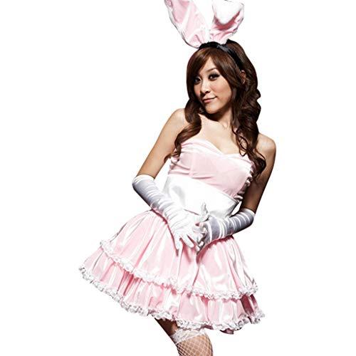 LUCA Women's Costume Party Cosplay Rabbit Outfit Fancy Dancer Mini Dress Set -