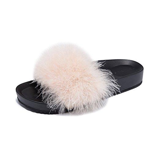Tamaño De De Grueso Negro Desgaste Fondo Pantuflas Sandalias 36 ZCJB Femenino Pink Verano Zapatos Exterior Moda Planos Color ZwFEHfq7