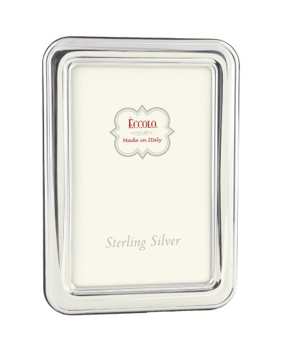 Eccolo Sterling Silver Frame, Holds 5 by 7-Inch Photo, Hyde Park by Eccolo