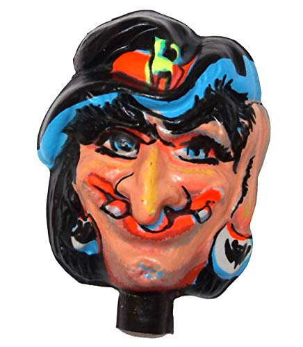 Anticuria Vintage NOS Plastic Halloween Witch Face Doll Head for Cloth Doll or Crafting