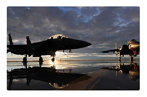 - Tree26 Indoor Floor Rug/Mat (23.6 x 15.7 Inch) - Us Air Force F-15E Fighter Jet Aircraft Sky Clouds