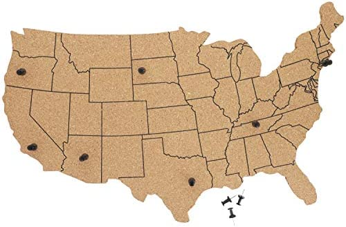 Juvale USA map Cork Board product image
