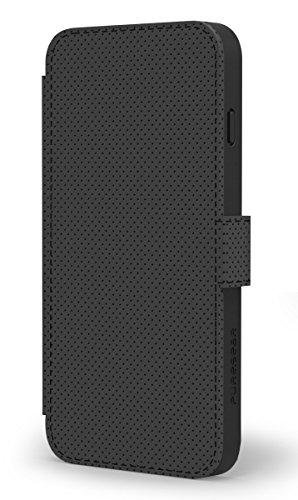 PureGear Express Folio Wallet Case for iPhone 6 - Retail Packaging - Black (Hipcase Folio)