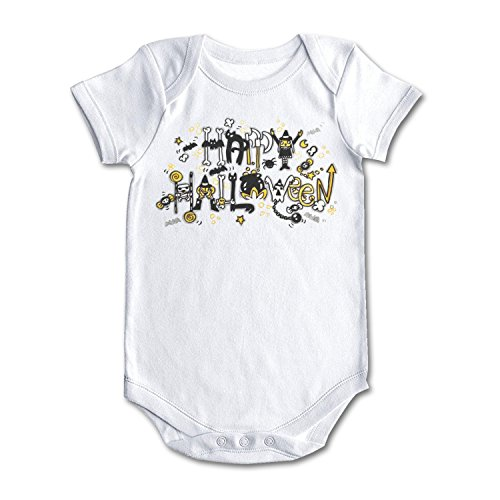 bbabylike Happy Halloween Cute Cartoon Cool Design Baby Girl Boy Outfit White]()