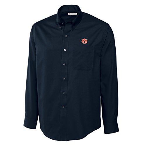 Cutter & Buck NCAA Auburn Tigers Men's Long Sleeve Epic Easy Care Fine Twill Shirt, XX-Large, Navy Blue