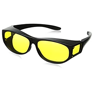 Escort Safety Glasses Fits Over Most Prescription Eyewear Yellow Lenses
