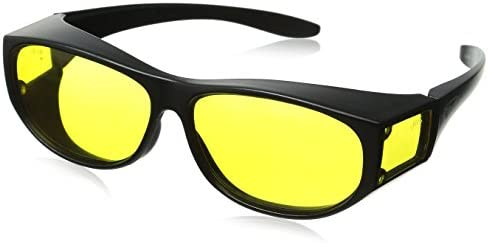 4111fbb5eb Amazon.com  Escort Safety Glasses Fits Over Most Prescription Eyewear  Yellow Lenses  Clothing