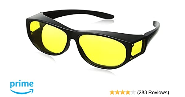 82d6d7fdfd Amazon.com  Escort Safety Glasses Fits Over Most Prescription Eyewear  Yellow Lenses  Clothing