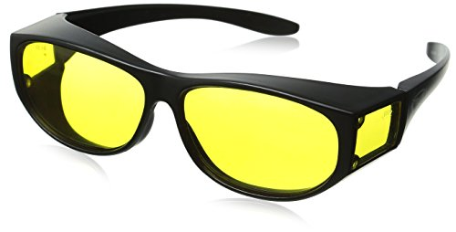 Escort Safety Glasses Fits Over Most Prescription Eyewear Yellow - Lenses Glasses Yellow