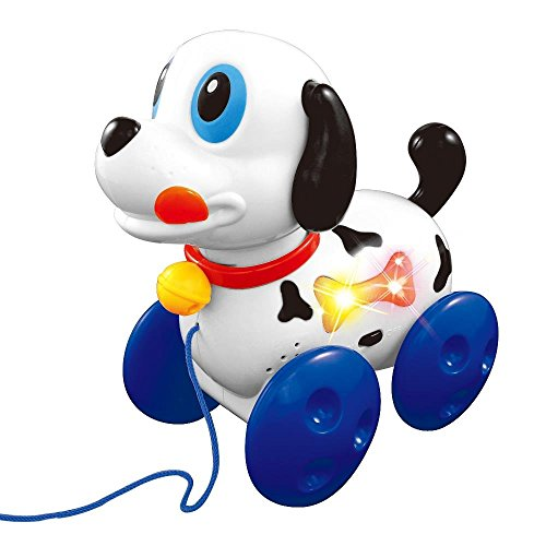 Lightahead Naughty Musical Dog A Sound and Light Pulling Toy for Children and (Puppy Musical Pull Toy)