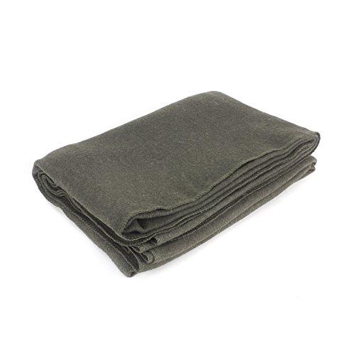 "EverOne Wool Fire Retardant Blanket, Grey, 62"" X 80"""
