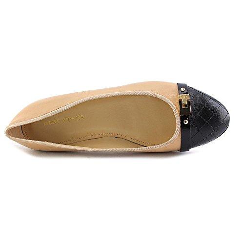Womens Natural Flats Marc Round JODITA Toe Multi Leather Slide Fisher 1xRqxZ5