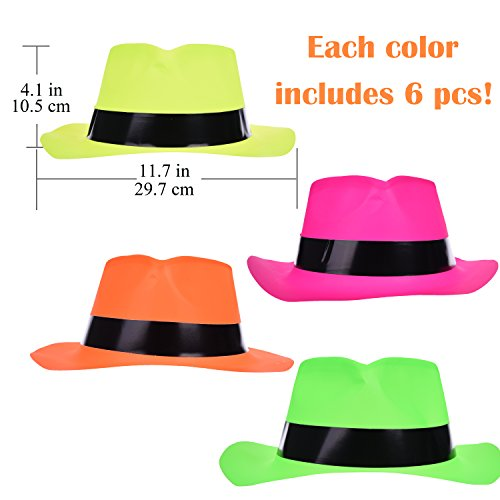 Party Hats Costume Summer Beach Vacation Birthday Party Colorful Set Mix 24 pcs