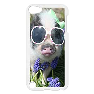 D-PAFD Customized Print Cute Pig Pattern Hard Case for iPod Touch 5