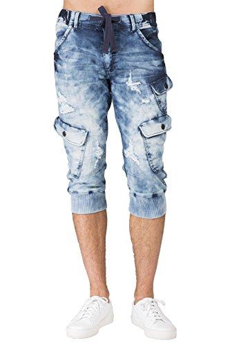 Level 7 Men's Cargo Pocket Premium Knit Denim 18