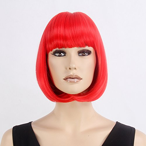 STfantasy Wigs for Women Short Hair Cosplay Synthetic Bob Wig 12