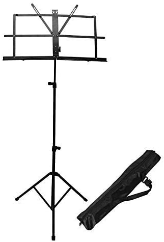 Pink Metal Folding Music Stand Portable Adjustable Music Holder with Carrying Bag Fuyamp Music Stand for Sheet Music