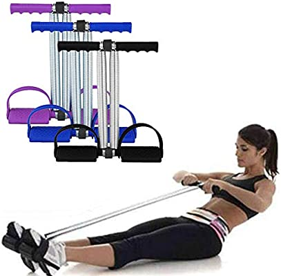 Amazon Com Multifunction Leg Exerciser 4 Tubes Foot Pedal Elastic Pull Rope With Handle Fitness Equipment Bodybuilding Expander Home Fitness Equipment Abdomen Waist Leg Traine Spring Fitness Rally Health Personal Care