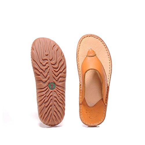 dal uomo da design Sandalo morbido Marrone open dimensioni spiaggia e Sandali Sandali toe chiaro scuro Colore confortevole ZJM Marrone 39 F8wxAqIw