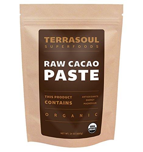 Raw Cacao Paste/liquor (Organic), 1.5 Pounds