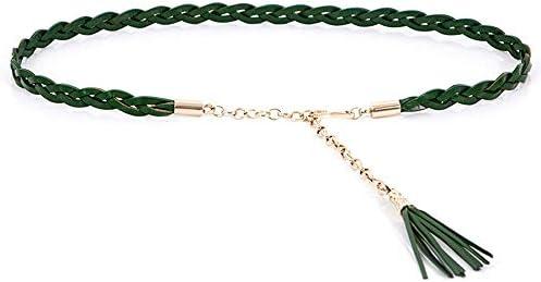 [해외]Western Design Women`s fashion woven leather waist chain dress dress leather thin belt / Western Design Women`s fashion woven leather waist chain dress dress leather thin belt
