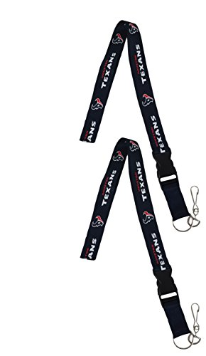 Houston Texans Card Holder - Official National Football League Fan Shop Authentic 2-pack NFL Lanyard/keychain Office Badge Holder (Houston Texans)