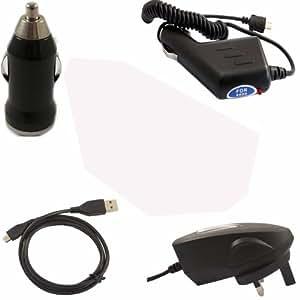 Coche Cargador De Viaje Y 3 Pin UK Cargador Y USB Carga Cable De Datos Y USB En Coche Cargador Para Samsung Galaxy