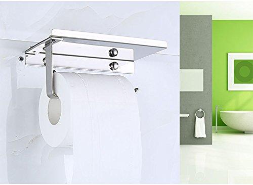 Olusar Portarotolo Porta Carta Igienica Bagno in Metallo con Vassoio