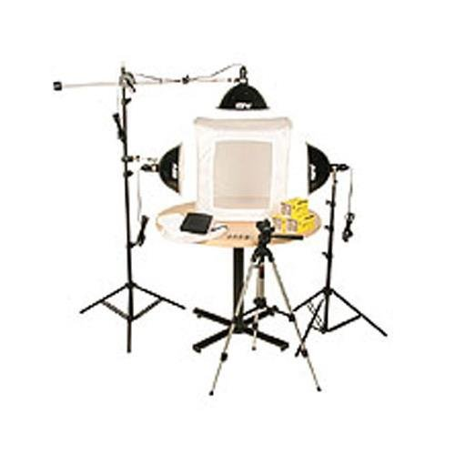 "Smith-Victor KLB-3, Three Light 1500 Total watt Photoflood Light Box Kit with 28"" Shooting Tent."